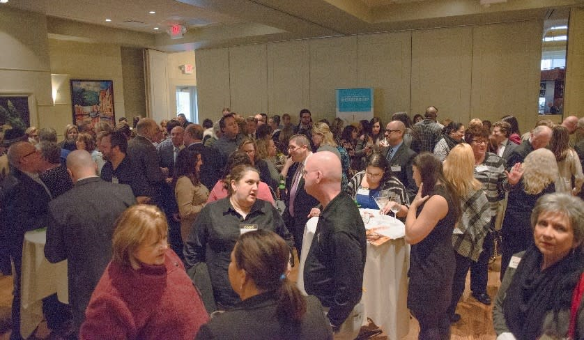 The January 26 gathering at Davio's Northern Italian Steakhouse, King of Prussia, gathered the largest turnout of any VFTCB membership event, with nearly 200 registrants.