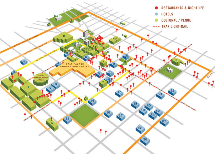 Convention District map