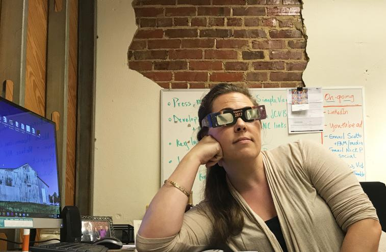 Eclipse Glasses Waiting
