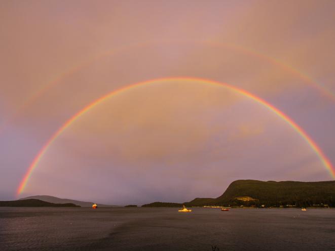 Auke Bay double rainbow
