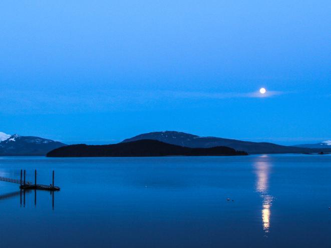 Auke Bay moon