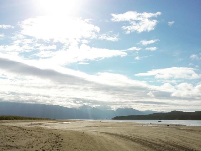Gustavus' long sandy beaches are unique in Southeast Alaska.