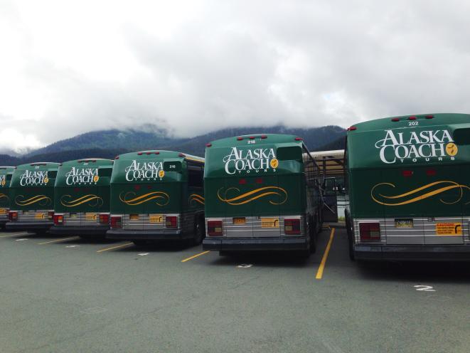 Alaska Coach Tour Buses
