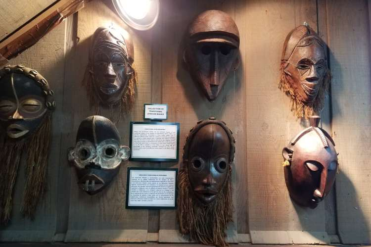 Ancient Wars Mask on Wall