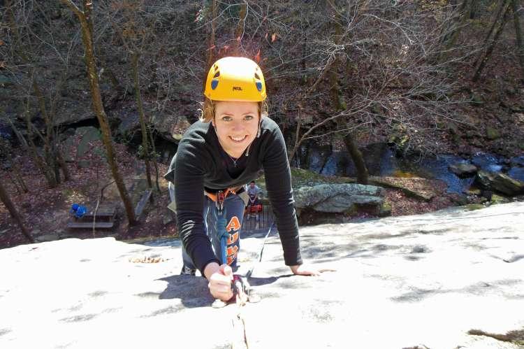 Rock Climbing at Hurricane Creek Park