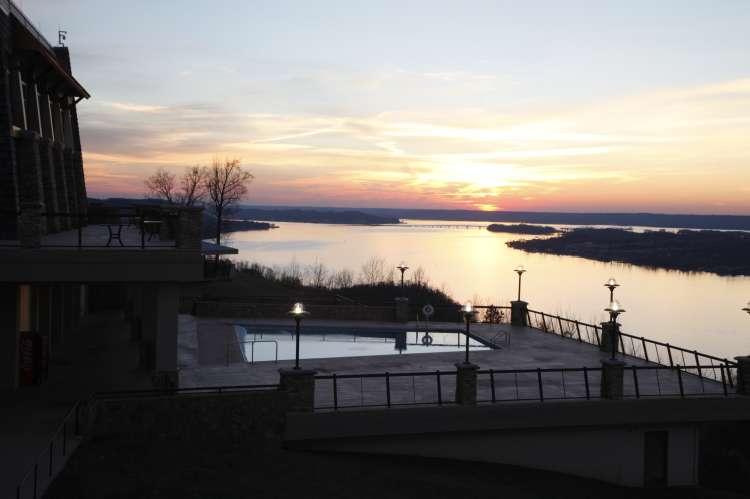 Sunset View from Guntersville Lodge