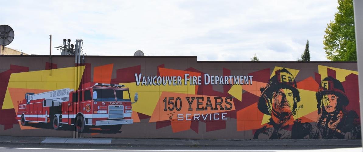Firehouse Mascots mural