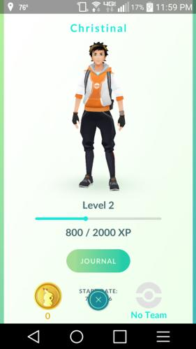 A trainer, the typical appearance of a player in the Pokemon GO app.