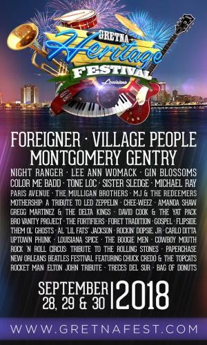 Gretna Heritage Fest 2018 Lineup