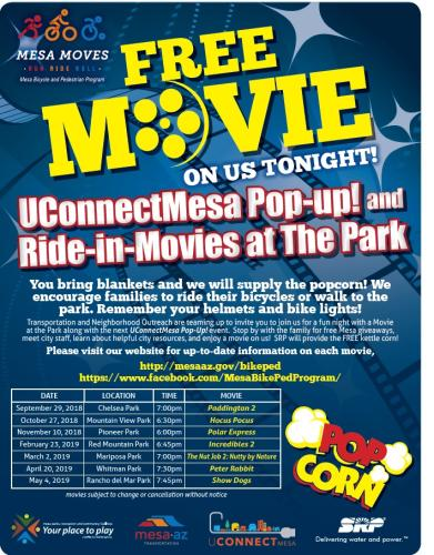 Ride-In-Movies at the Park 2018 Schedule cycle