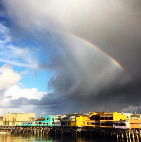 Rainbow over Old Fisherman