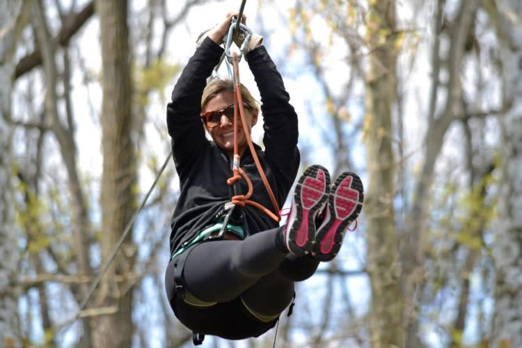 Ziplining at Elmwood Park Zoo