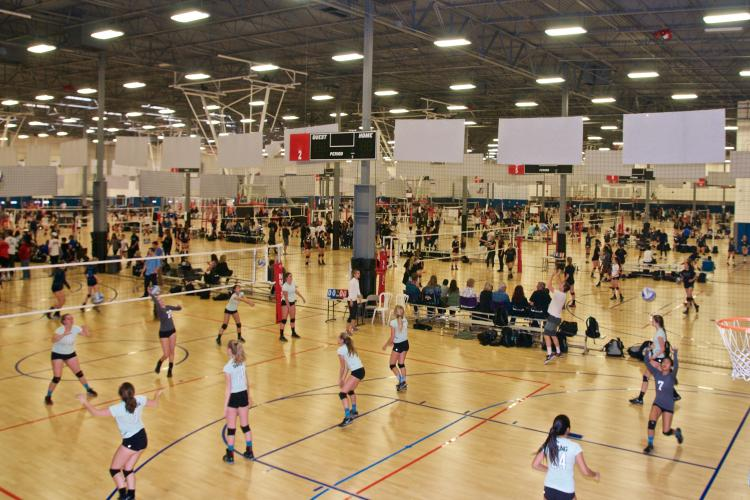 Volleyball players at Momentous Sports Center
