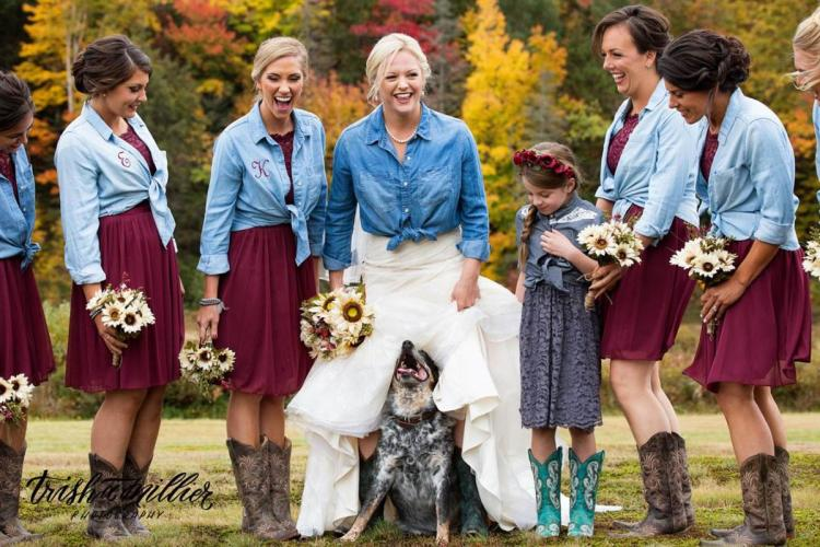 Trisha Millier Photography Western themed bridal party