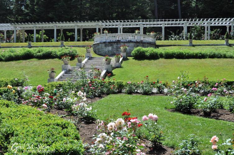 Yaddo Gardens with pergola in background