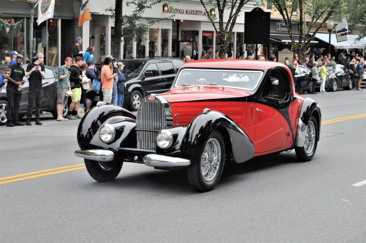 Red Bugatti parade car 6