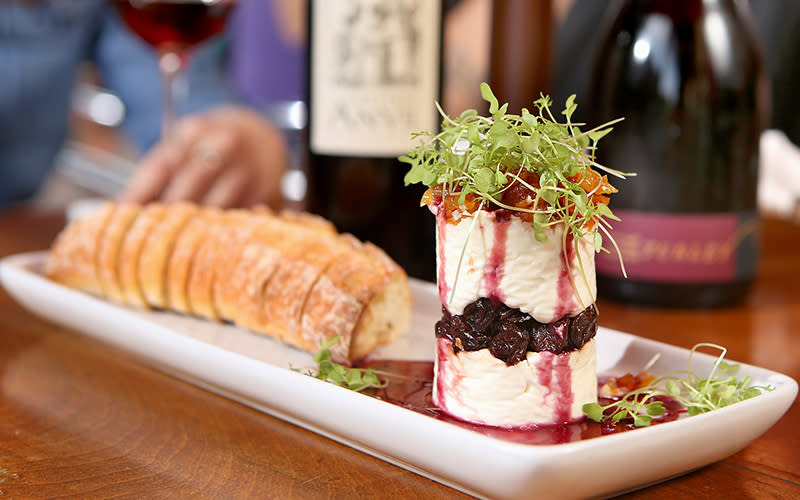 Napoleon appetizer at The Wine Bar