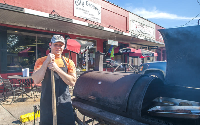 BBQ at City Grocery