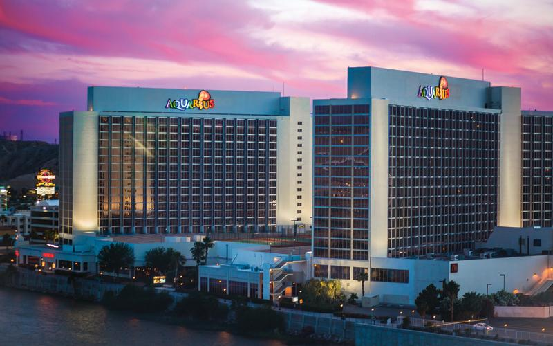 Aquarius Resort at sunset in Laughlin