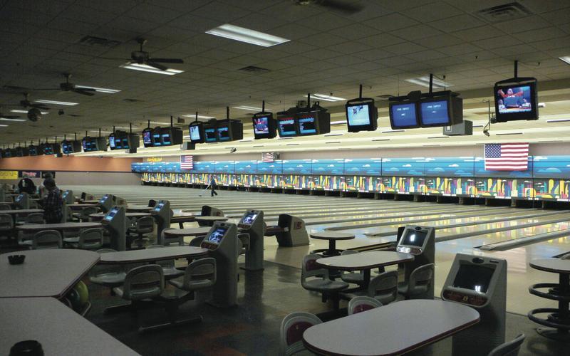 Bowling lanes at Riverside Lanes in Laughlin, NV