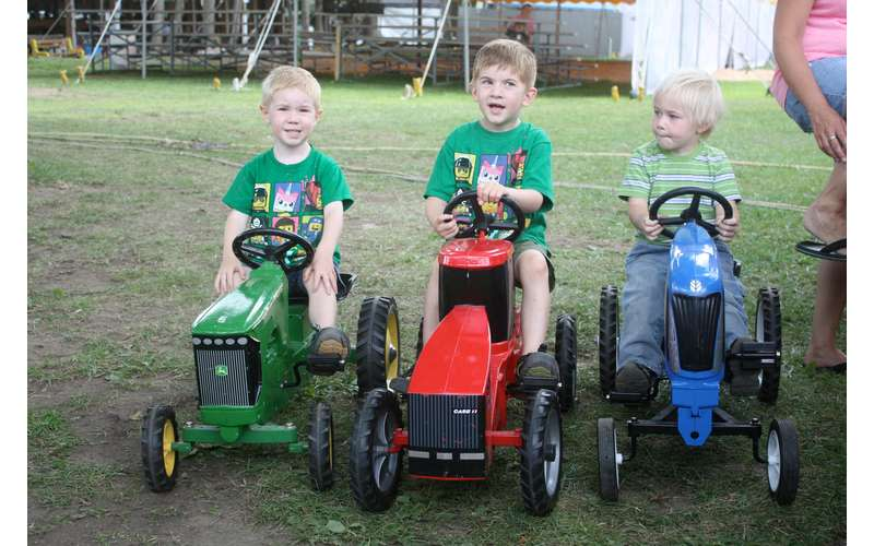 Saratoga Co. Fair kids on tractors