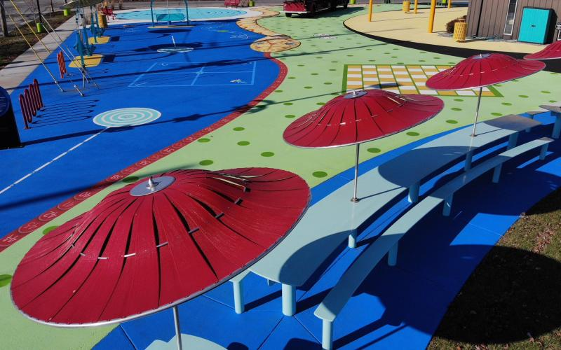 Picasso Pointe - Red Umbrellas