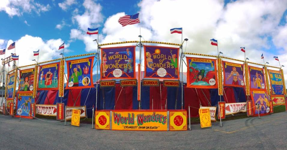 Saratoga Co. Fair World of Wonders stage