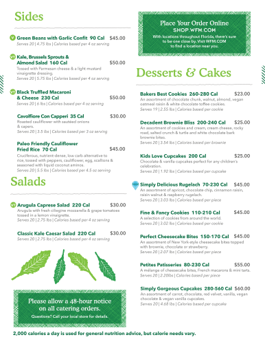 Catering Menu, Pg. 4