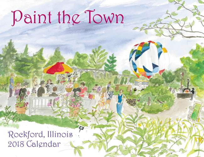 Paint the Town Calendar cover
