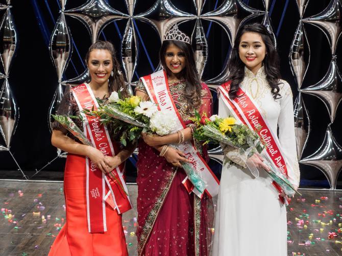 contestants compete in Miss Wichita Asian Festival Pageant in Wichita KS