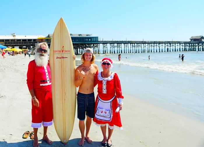 Surfin' Santas event in Cocoa beach