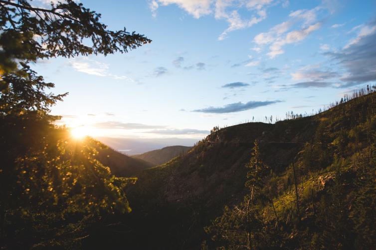 Myra Canyon Sunset
