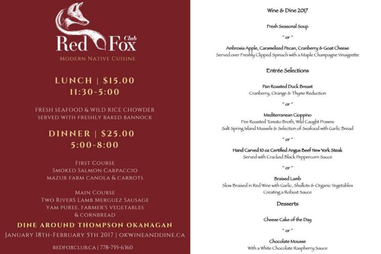 Red Fox Club and Basil Mint Menues