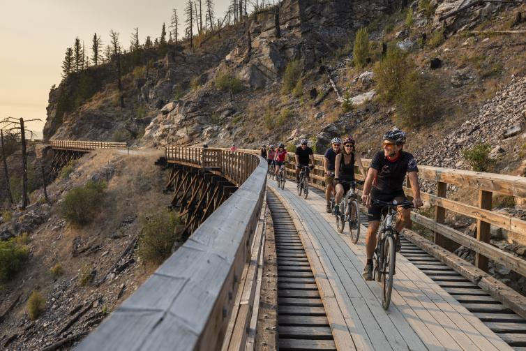 Myra Canyon Trestles: Group Bike Tour