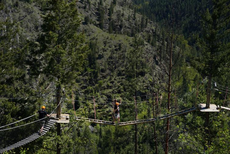 Photo by BC Ale Trail, for Kelowna Ale Trail. Myra Canyon Adventure Park