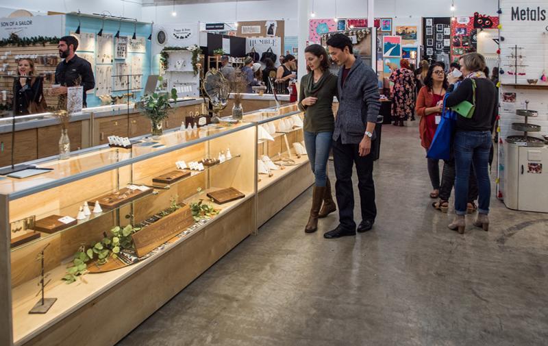 People browsing at Blue Genie Art Bazaar