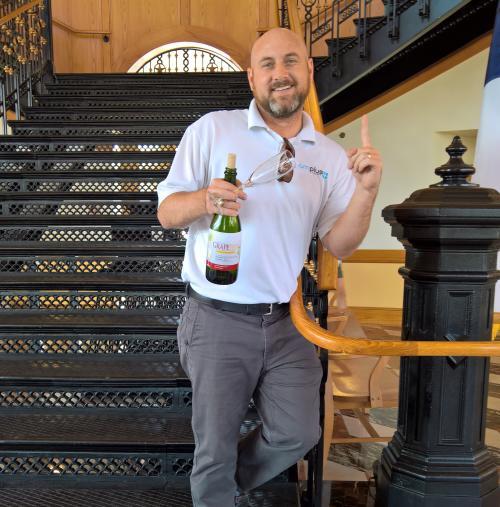 GrapeFest cork shoot winner