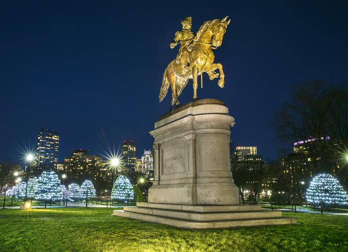 Boston's Holiday Lights Trail, Public Garden