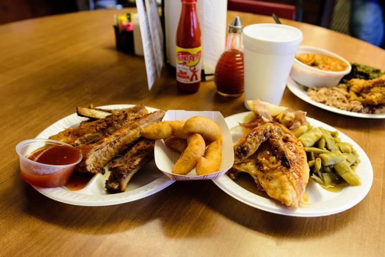 White Swan BBQ food