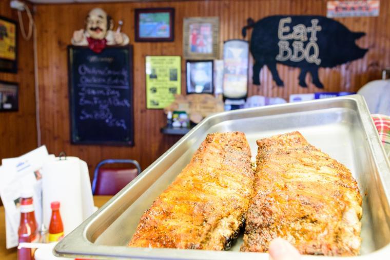 White Swan bbq food ribs