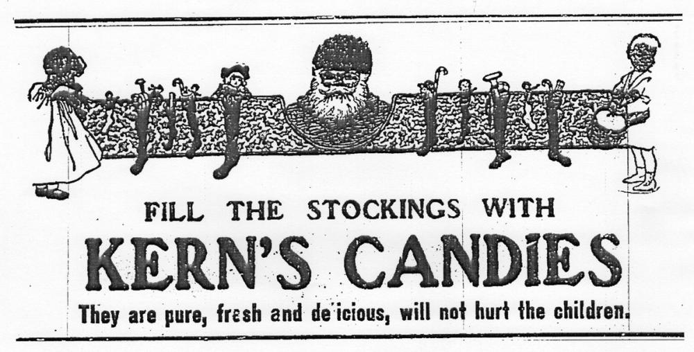 Kern's Candies Christmas ad courtesy of Knoxville History Project