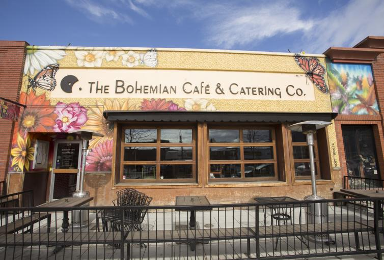Bohemian Cafe Building Art