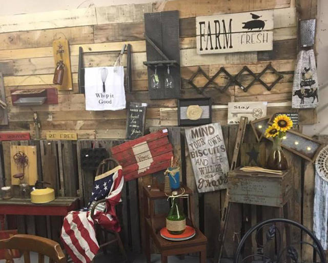 Fun home decor at Wood and Cotton Co.
