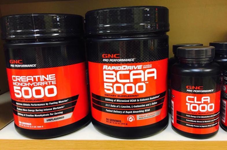 BCAA, creatine, and CLA