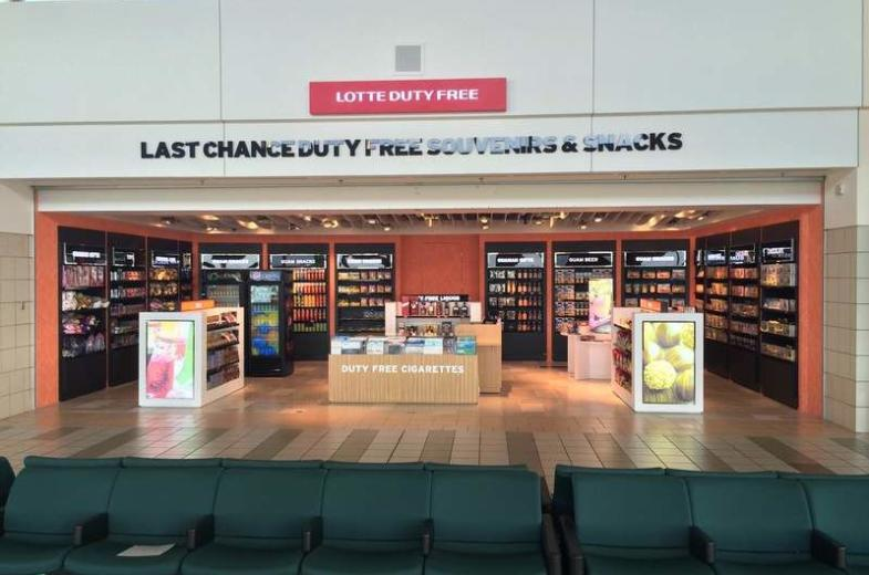 Lotte Duty Free Guam's wing store gives customers a last chance to pick up gifts