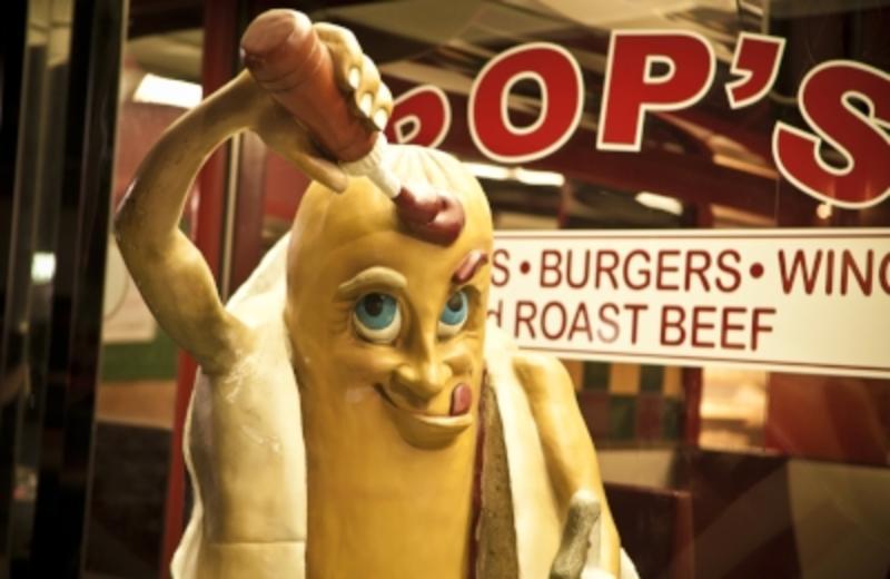 Pops Diner in Carolina Beach on the Boardwalk.
