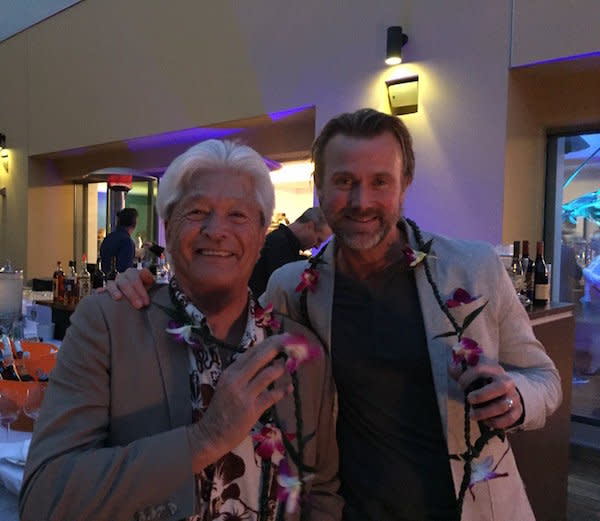 Scott with surfing legend and HB local, David Nuuhiwa