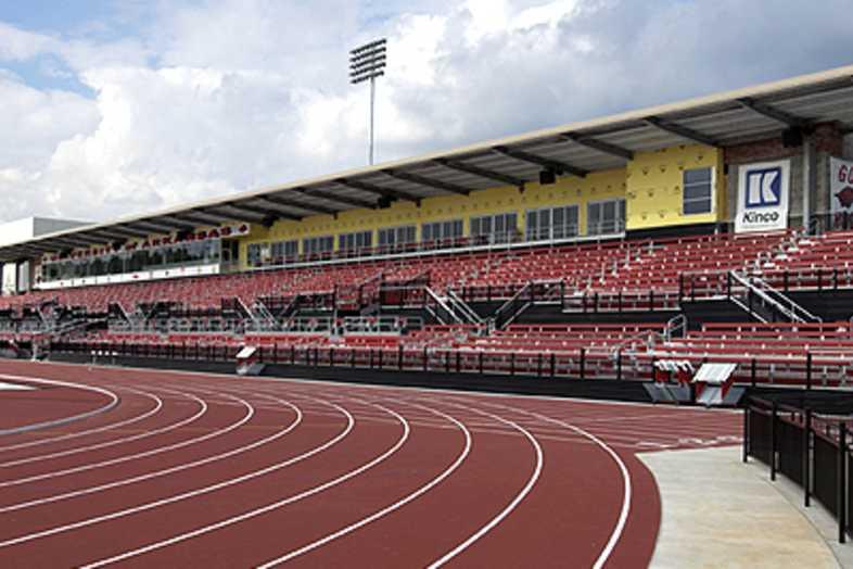 Track Bleachers - University of Arkansas