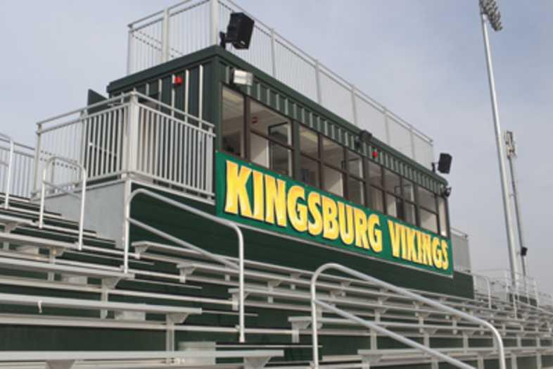 Football Bleachers - Kingsburg Joint Union District
