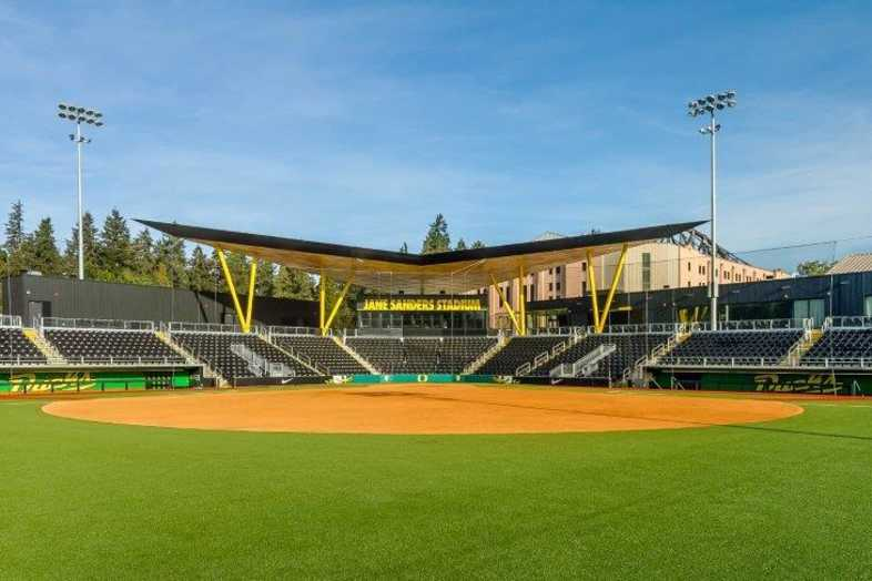 University of Oregon - Jane Sanders Softball Stadium - Built by Southern Bleacher - 1